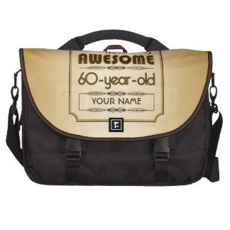 60.o mundo de la celebración del cumpleaños del or bolsa para ordenador