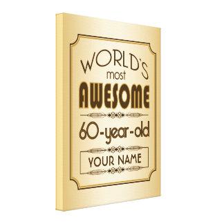 60 o mundo de la celebración del cumpleaños del or