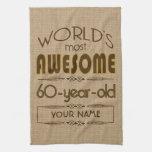 60.o Mundo de la celebración del cumpleaños mejor  Toalla