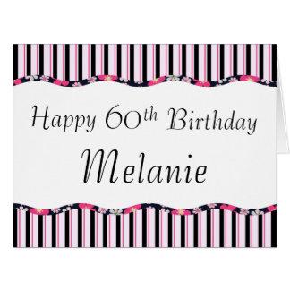 60.o o cualquier edad Cumpleaños-GRANDE Felicitación