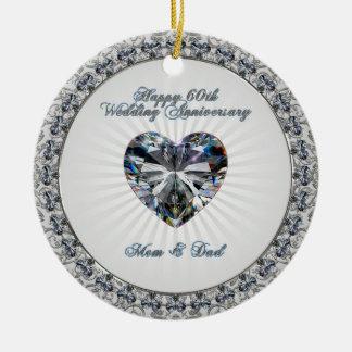 60.o Ornamento del aniversario de boda Ornamentos Para Reyes Magos