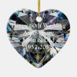 60.o Ornamento del corazón del aniversario de boda