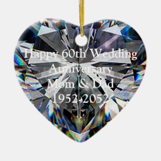 60.o Ornamento del corazón del aniversario de boda Ornamentos De Reyes Magos