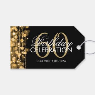 60.o oro elegante de las chispas de la fiesta de etiquetas para regalos