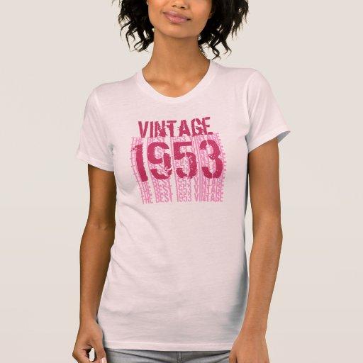 60.o Pasteles suaves ligeros 1953 del vintage del Camiseta