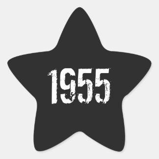60.o Pegatinas del cumpleaños - año 1955 Pegatina En Forma De Estrella