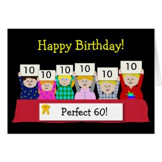 60.o Personalizable del cumpleaños Tarjeta De Felicitación