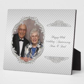 60.o Placa de la foto del aniversario de boda