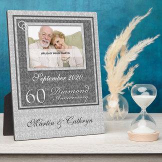 60.o Placa de la foto del aniversario del diamante