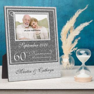 60.o Placa de plata de la foto del aniversario el