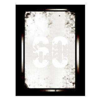 60.o Postal minimalista postmoderna del cumpleaños