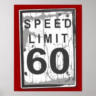 60.o Poster sucio divertido de la muestra del lími