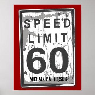 60.o Poster sucio divertido de la muestra del lími Póster