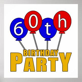60 o Presentes de la fiesta de cumpleaños Posters