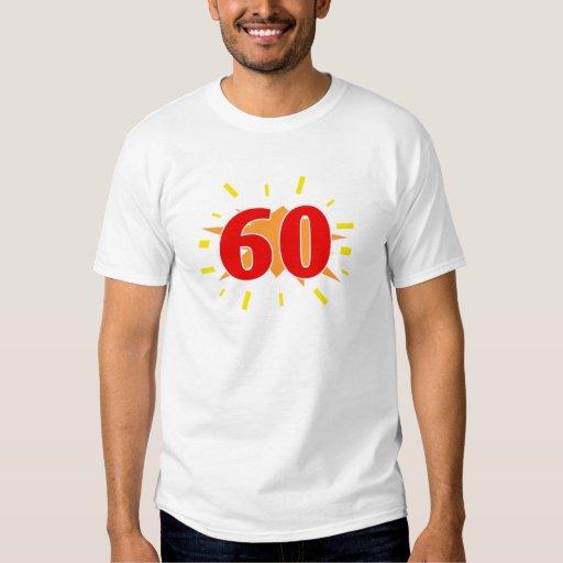 60.o Presentes de la fiesta de cumpleaños Playera
