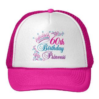 60 o Princesa del cumpleaños Gorra
