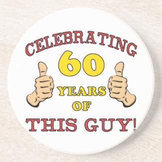 60.o Regalo de cumpleaños para él Posavasos Personalizados