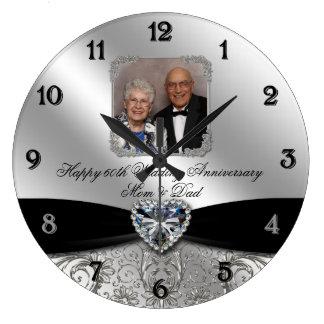 60.o Reloj de pared de la foto del aniversario de