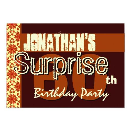 60.o Reserva del cumpleaños de la sorpresa el oro Invitacion Personal