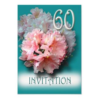 60.o Rododendros de la invitación del aniversario
