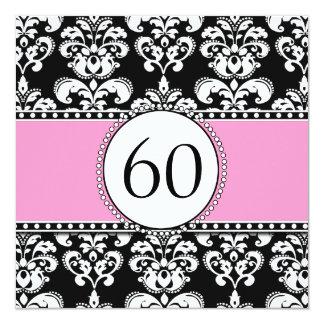 60.o rosa de la invitación el | del cumpleaños del