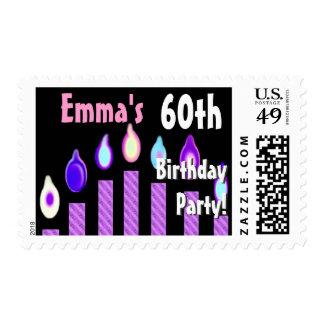 60.o sello de la fiesta de cumpleaños del NOMBRE D