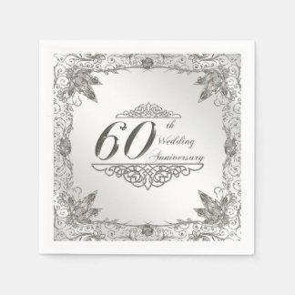 60.o Servilleta de papel del aniversario de boda