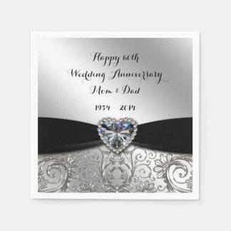 60.o Servilletas de papel del aniversario de boda