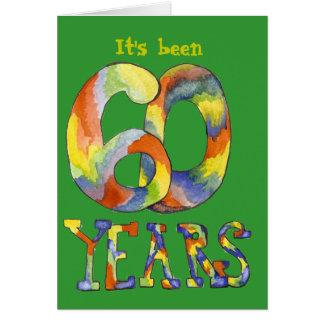 60.o Tarjeta de cumpleaños