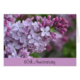 60 o Tarjeta de felicitación del aniversario con d