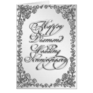 60.o Tarjeta de felicitación del aniversario de bo