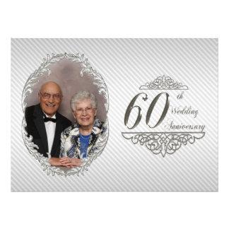 60.o Tarjeta de la invitación de la foto del anive