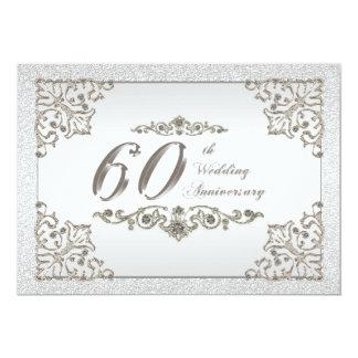 60.o Tarjeta de la invitación del aniversario de