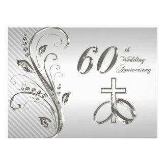 60.o Tarjeta de la invitación del aniversario de b