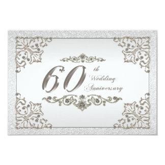 """60.o Tarjeta de RSVP del aniversario de boda Invitación 3.5"""" X 5"""""""