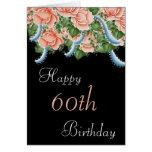60.o Tarjeta del feliz cumpleaños de los rosas del
