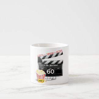 60.o Tema de la película del cumpleaños Taza Espresso