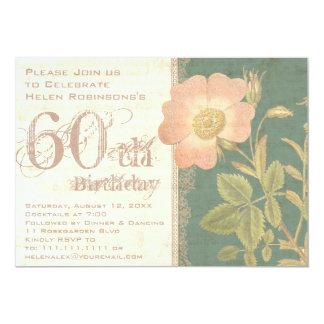 """60.o vintage del cumpleaños del jardinero elegante invitación 5"""" x 7"""""""