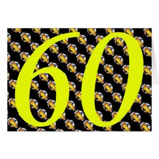 60.os cerveza de los años 60 sesenta del cumpleaño tarjeta