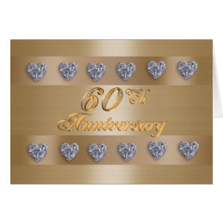 60.os diamantes de la invitación de la fiesta de a tarjeta