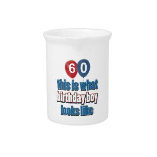 60.os diseños años del cumpleaños jarra para bebida
