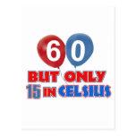 60.os diseños años del cumpleaños tarjetas postales