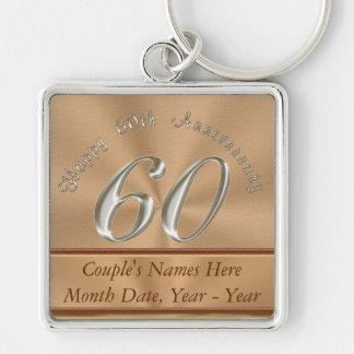 60.os llaveros personalizados del aniversario para