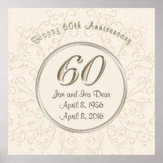 60.os posters personalizados del aniversario de