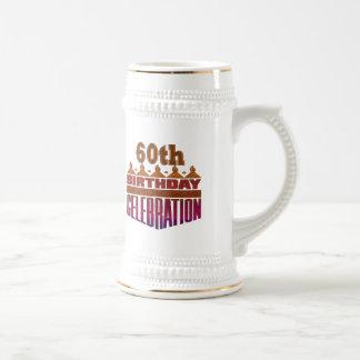 60.os regalos de cumpleaños de la celebración jarra de cerveza