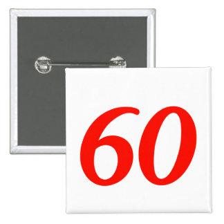60.os regalos de cumpleaños del número sesenta pin