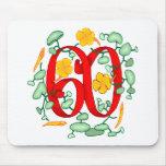 60.os regalos de cumpleaños florales tapete de ratones
