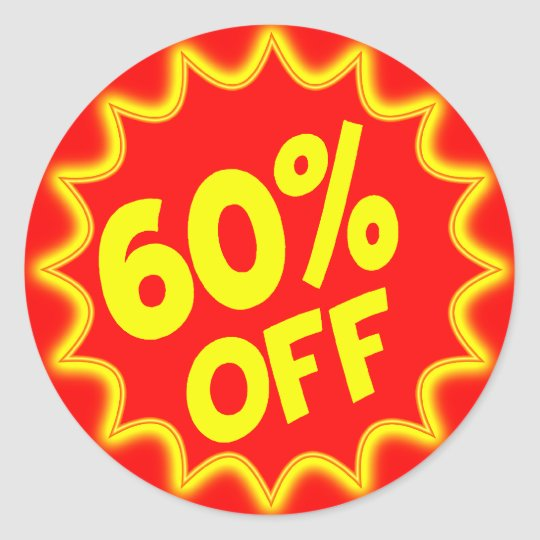 60 PERCENT OFF RETAIL LABEL