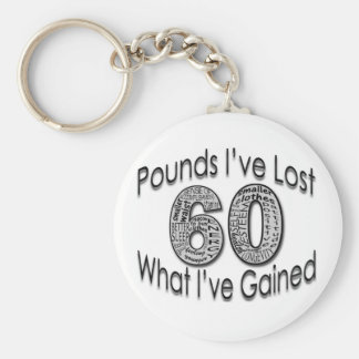 60 Pounds Lost Keychain