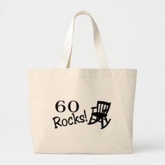 60 rocas (eje de balancín) bolsa tela grande